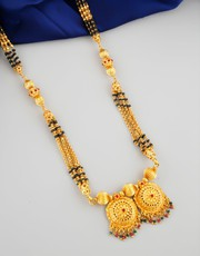 Get Long Mangalsutra Design at Low Cost by Anuradha Art Jewellery